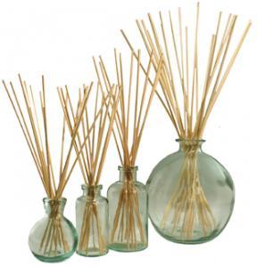 Mini-orb, Mini-Apothecary, 8 oz Apothecary and 66 oz Orb with reeds