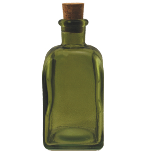 8.5 oz Dark Green Rectangle Reed Diffuser Bottle