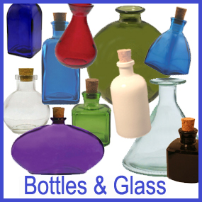 recycled bottles and glass for reed diffusers